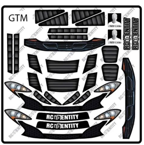 RC Identity Light/Grill Decal sheet for GTM body